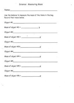 Measuring Mass