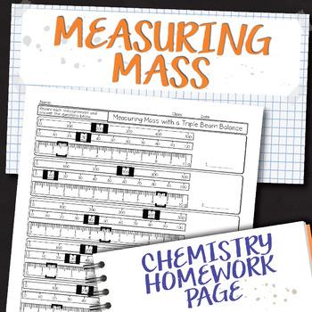 Measuring Mass Chemistry Homework Worksheet