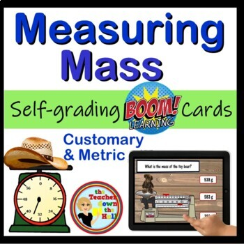 Measuring Mass - Digital Practice BOOM Cards - 24 Self-checking cards!