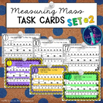 Measuring Mass TASK CARDS, Set #2 {Reading a Triple Beam Balance}
