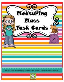 Measuring Mass Task Cards (CC Aligned)