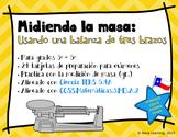 Measuring Mass Using a Triple-Beam Balance - Spanish Task Cards