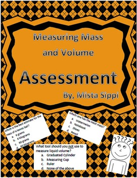 Measuring Mass and Volume Quiz Assessment