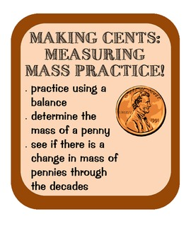 Measuring Mass of Pennies Practice, Scientific Method, analyzing data