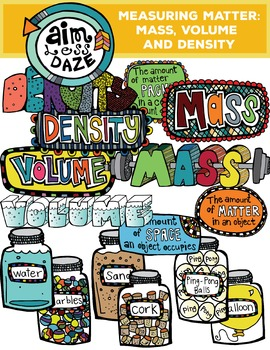 Measuring Matter Clipart: Mass, Volume and Density