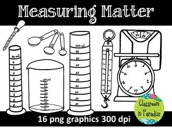 Measuring Matter Clipart Set FREEBIE