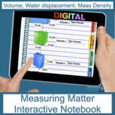 Measuring Matter (Density) Digital Interactive Notebook