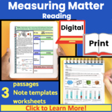 Measuring Matter (Density) Guided Reading