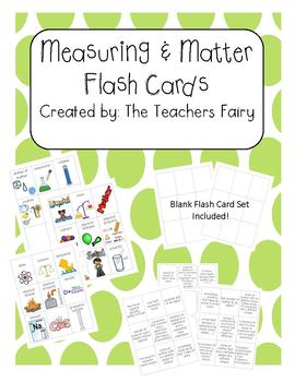 Measuring & Matter Flash Cards: Grade 4: Use for centers, homework, and more!