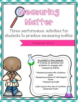 Measuring Matter Hands On Activities