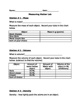 Measuring Matter Lab