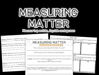 Measuring Matter {Printables and Stations}