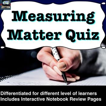 Measuring Matter (Density) Quiz