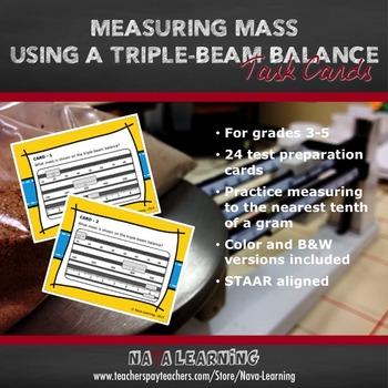 Measuring Mass Using a Triple-Beam Balance - Task Cards