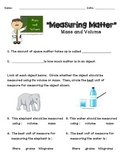 Measuring Matter--Volume and Mass