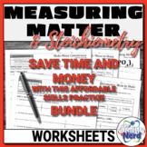 Measuring Matter and Stoichiometry Worksheet BUNDLE