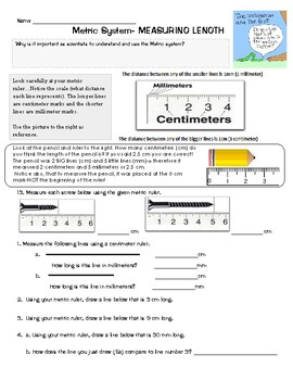 Measuring Metrics review Length, Mass, Volume including station practice