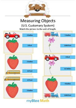 Measuring Objects US 2 - Match the picture - Gr 2/4