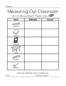 Measuring Our Classroom Using Nonstandard Units