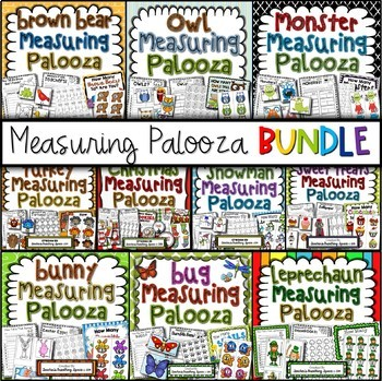 Measuring Palooza BUNDLE --- Measuring Math Centers For The Whole Year