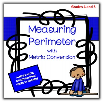 Math Metric Measurement with Perimeter  & Metric Conversions