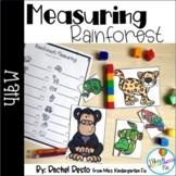 Measuring Rainforest Animal Math Center | pre-k and kindergarten