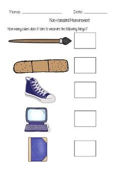 Measuring School Supplies - Nonstandard