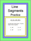 Line Segments - Measuring Segments Practice and RELAY RACE with 6 Exit Tickets