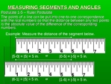 Measuring Segments and Angles Power Point Lesson