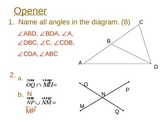 Measuring Segments and Angles