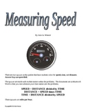 Measuring Speed, Distance, and Time Activity