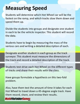 Measuring Speed {Measurement Activity}