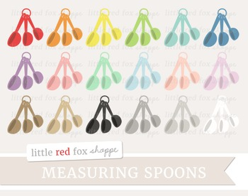 Measuring Spoon Clipart; Kitchen, Baking, Cooking