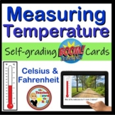 Measuring Temperature - Digital Practice BOOM Cards - 24 Self-checking cards!