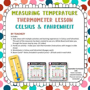 Measuring Temperature Thermometer Lesson CELSIUS & FAHRENHEIT