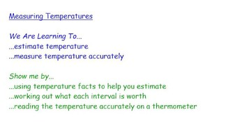 Measuring Temperatures By The Lesson Store Teachers Pay