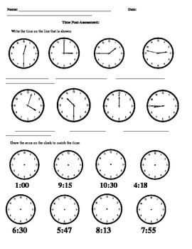 Measuring Time: Assessment