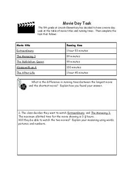 Measuring Time Movie Day Task