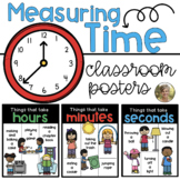 Measuring Time {Posters} Seconds, Minutes, Hours for Kinde