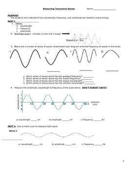 Measuring Transverse Waves