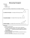 Measuring Triangles