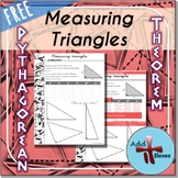 Measuring Triangles- Pythagorean theorem task (WORKSHEET)