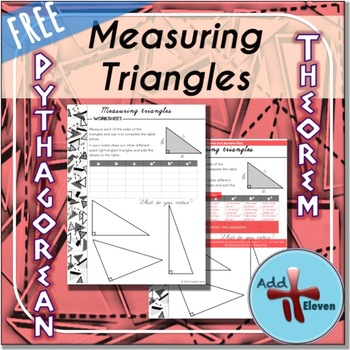 Measuring Triangles- Pythagorean theorem task (WORKSHEET)