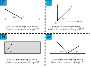 Measuring Unknown Angles - TEK 4.7E