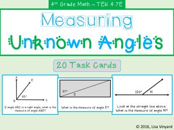 Measuring Unknown Angles - TEK 4.7E