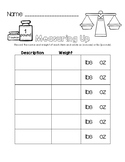 Measuring Up - Pounds and Ounces Worksheet