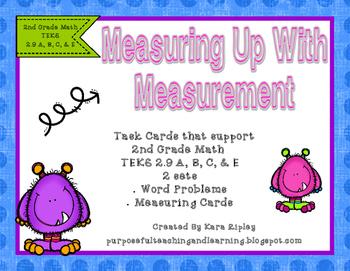 Measuring Up With Measurement { 2nd Grade Math TEKS 2.9 A, B, C, & E}