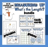 Measuring Up – customary & metric length games, task cards, printables bundle