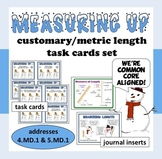 Measuring Up – customary & metric length task cards – Common Core Math aligned