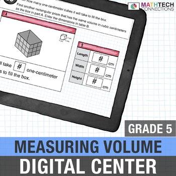 Measuring Volume  - 5th Grade Digital, Interactive Math Center